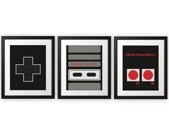Custom NES Controller Print Set - 8x10 Prints