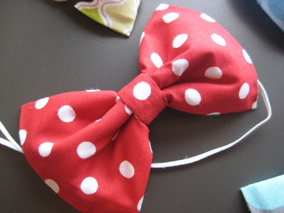 """The """"Canaan"""" - Plaid Red White & Blue Boutique Bowtie"""