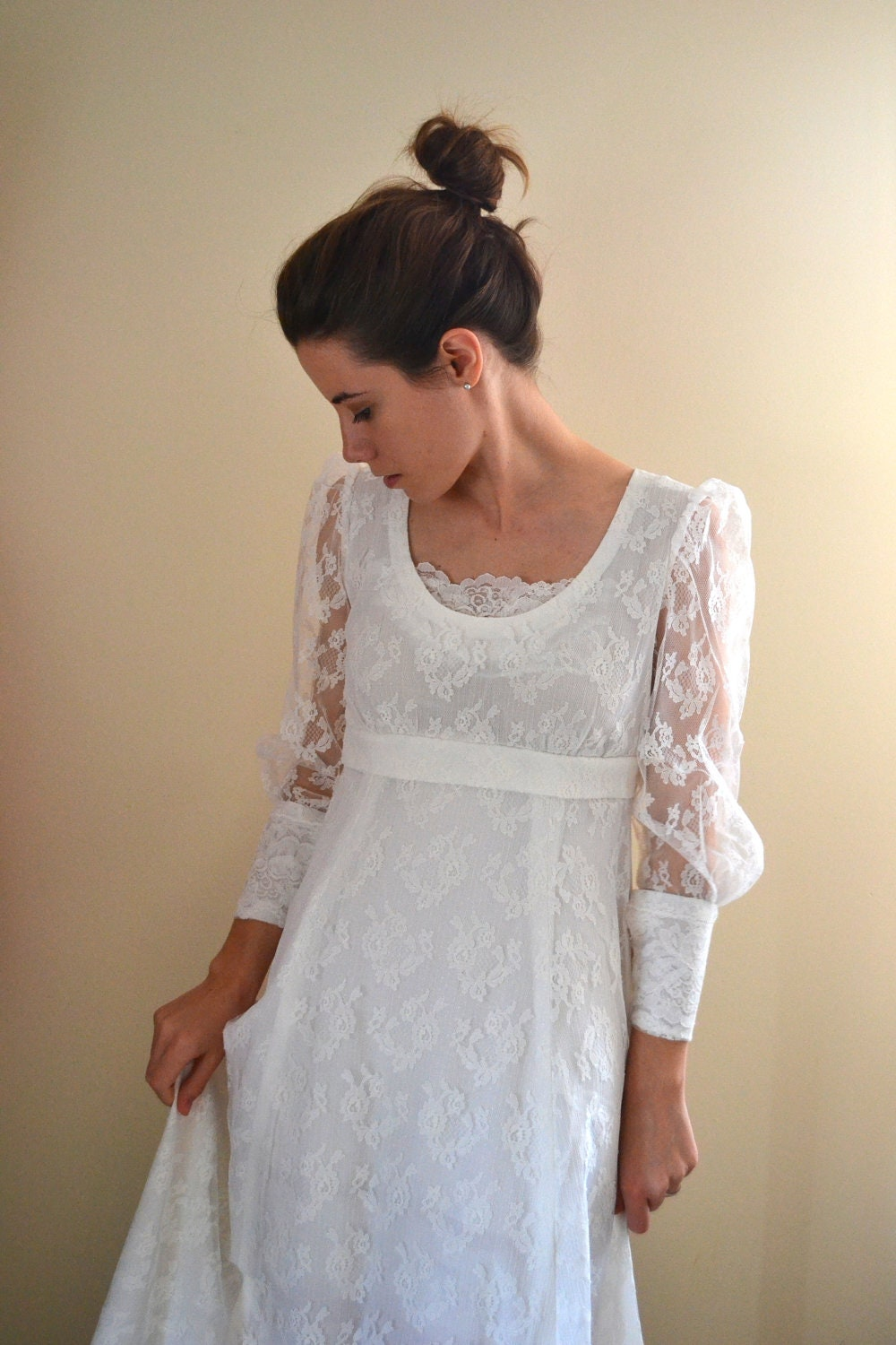 reserved 60s wedding dress 1960s wedding dress lace dress
