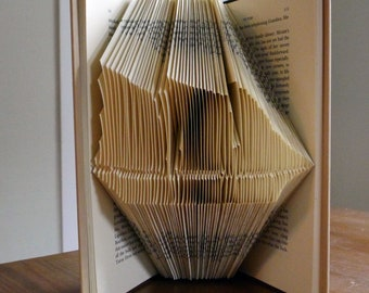 Ship - Sailboat - Gift for Him - Schooner - Gift for Dad  - Folded  Book - Boat - Unique Handmade Gift - Book Sculpture