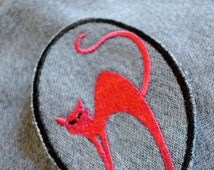 Cat Patch - Pink Kitty Denim Patch, perfect for jeans, jacket, or bag