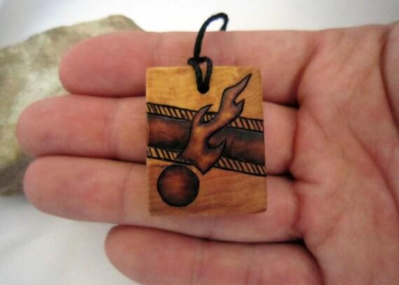 Mens necklace pendant ecofriendly shooting star pendant