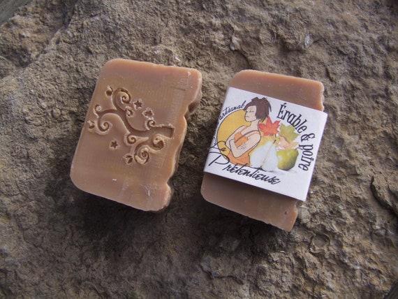 45% SALE - Yummy Maple and pear natural handmade soapbar 80 grams