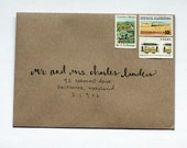 Hand Addressed Envelopes - Cursive and Handwritten Font