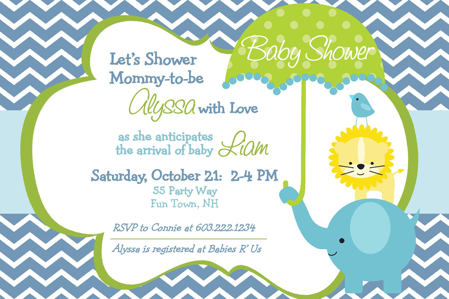 Baby Boy Shower Invitations Templates 1500 x 1000