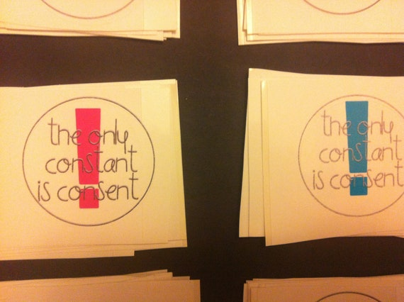 The Only Constant Is Consent Sticker