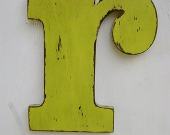 """Lowercase """"r"""" wooden letters , Letter sign , wall hanging Initials , baby nursery decor, wedding decor"""