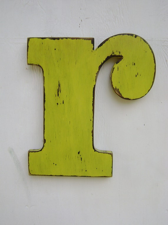 Lowercase r wooden letters Letter sign wall by UncleJohnsCabin