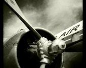 Vintage World War II Airplane Propeller Engine 2, Aviation, 10x10 Photograph, Vintage Airplane, Aircraft Wing, Airplane Decor