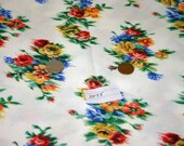 vintage knit fabric material floral print  JP2075