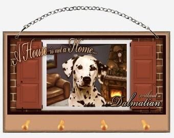 Dalmatian Key and Dog Leash Holder