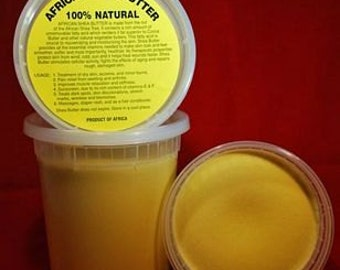 32oz x 4 Unrefined African Shea Butter-Yellow