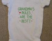 Baby Onesie - Grandma's Rules are the Best