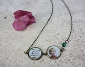 Handmade necklace with Marilyn Monroe quote and picture