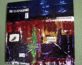 Rethinking What's Real by artist Rachel Dickson original acrylic paintings on wood