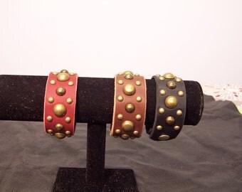 Handmade Studded Leather Bracelet
