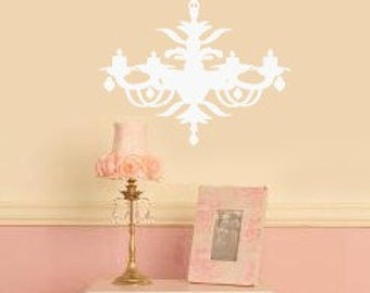 French Victorian Chandalier  Vinyl Wall Lettering Decal 22W x 29H