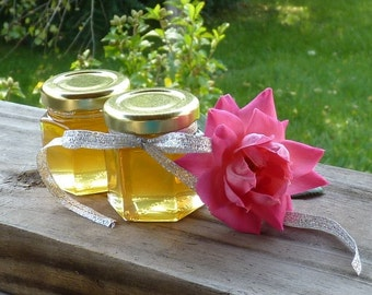 Edible Wedding Favors, 48 Raw Wildflower Honey 2oz Jars, Raw Honey, Tennessee Wildflower, Wedding Favors Wedding Shower Reception Gifts