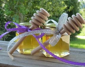 Edible Wedding Favors 48 Raw Wildflower Honey Wedding Favors 2oz Jars Gifts Raw Honey Tennessee Wedding Reception Gifts Honey Dippers