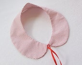 Red Spotted, Collar Necklace- Day - Simple