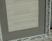 Love Quotes in distressed frame