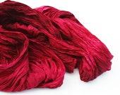 silk scarf - Vine taste -  Valentine's gift for her, burgundy, red, vine, merlot, ruby silk scarf.