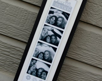 "Photo Booth Picture Frame - Holds a 2"" x 8.5"" Photo Booth Picture Strip - Black & White"