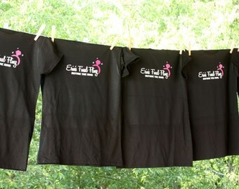 Set of 5 Bachelorette Final Fling Before The Ring Shirts with Rhinestones