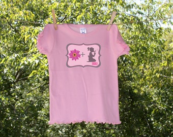Personalized Flower plus Girl flowergirl shirt