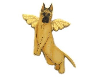 Angel Dog Great Dane Dog Angel Wooden Wall Hanging