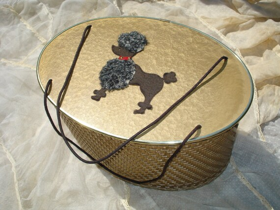 Vintage Princess Poodle Sewing Box Basket