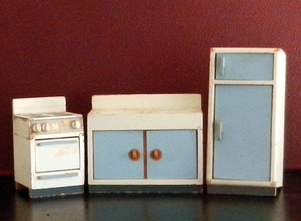 Wooden German Doll House Furniture Set By Happenstancenwhimsy