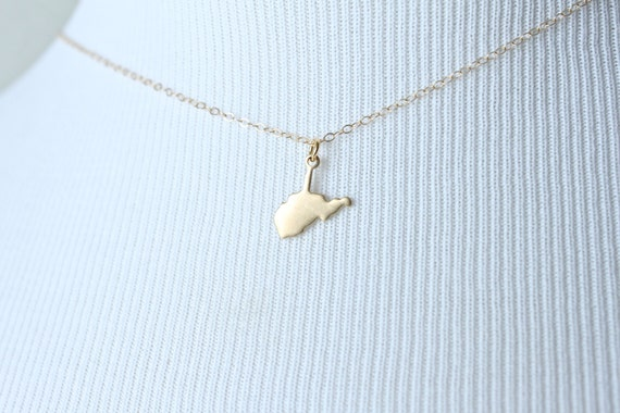 Dainty West Virginia Charm Necklace