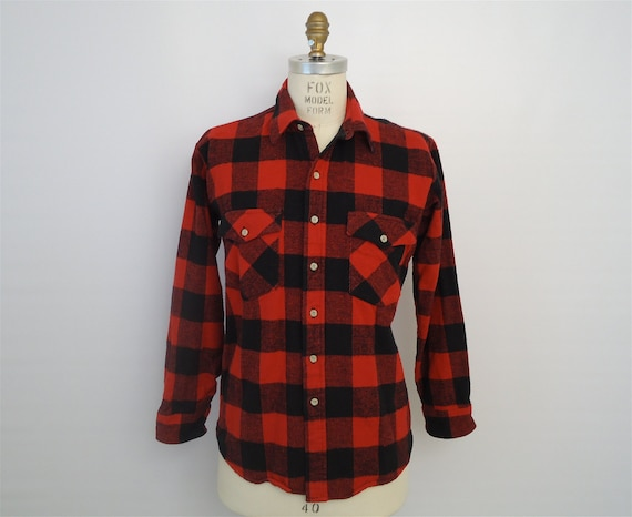 Rugged Red Flannel Red Amp Black Plaid Shirt Buffalo Check