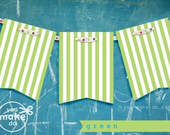 1st birthday boy banner girl birthday decorations green baby shower banner lime green party decorations striped garland stripe light green