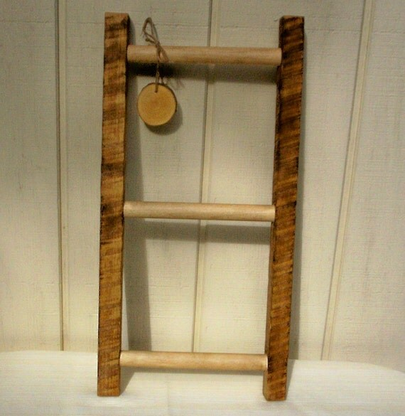 Ladder Decor On Wall : Wall ladder primitive rustic by inspirationsnature