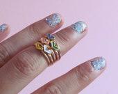 Heart knuckle rings