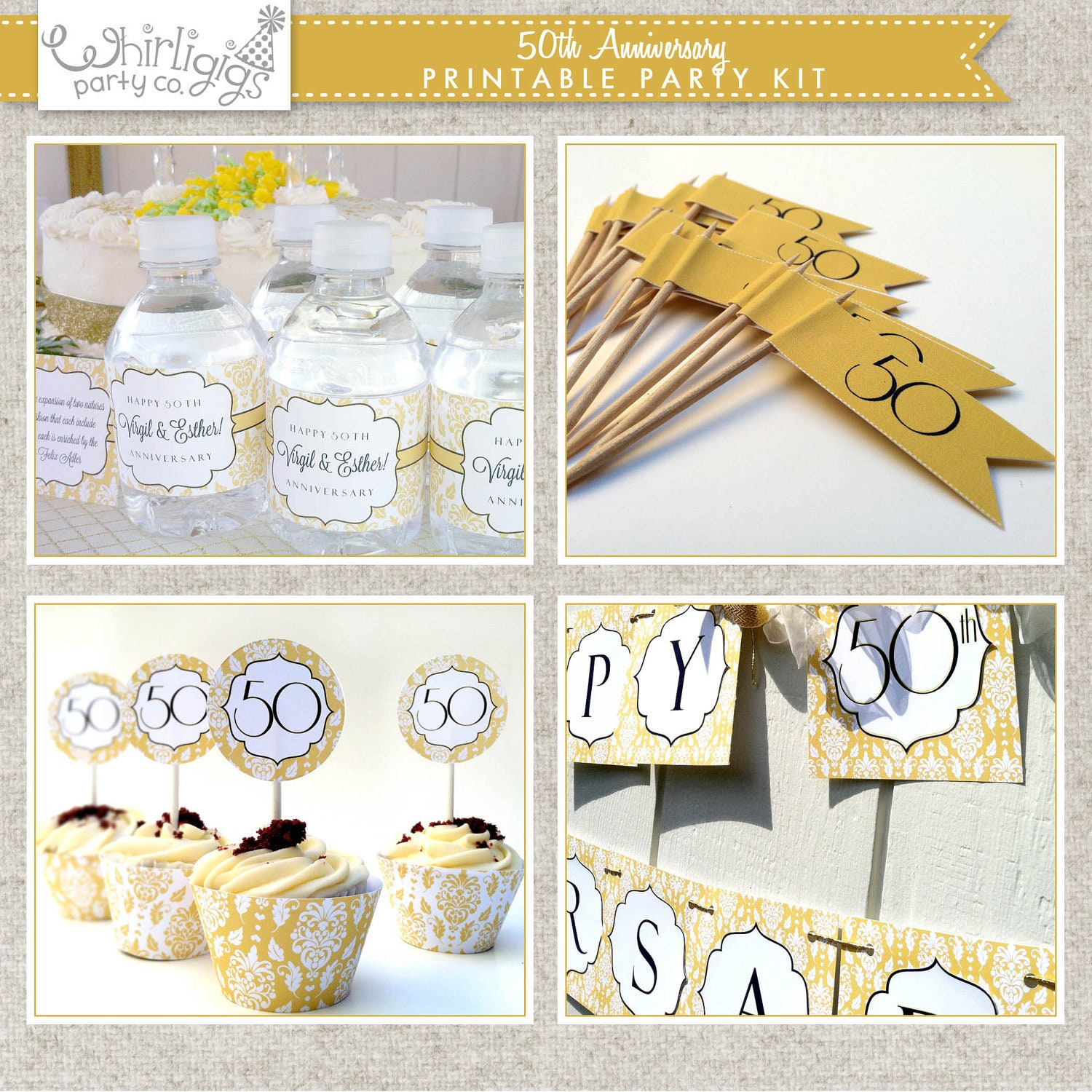50th Wedding Anniversary Gifts Diy : 50th Wedding Anniversary Diy Decorations Printable 50th anniversary