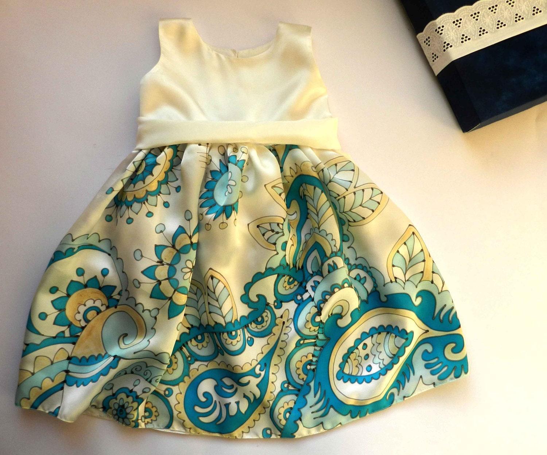 Hand Painted Silk Dresses Russian Style Silk Dress Hand