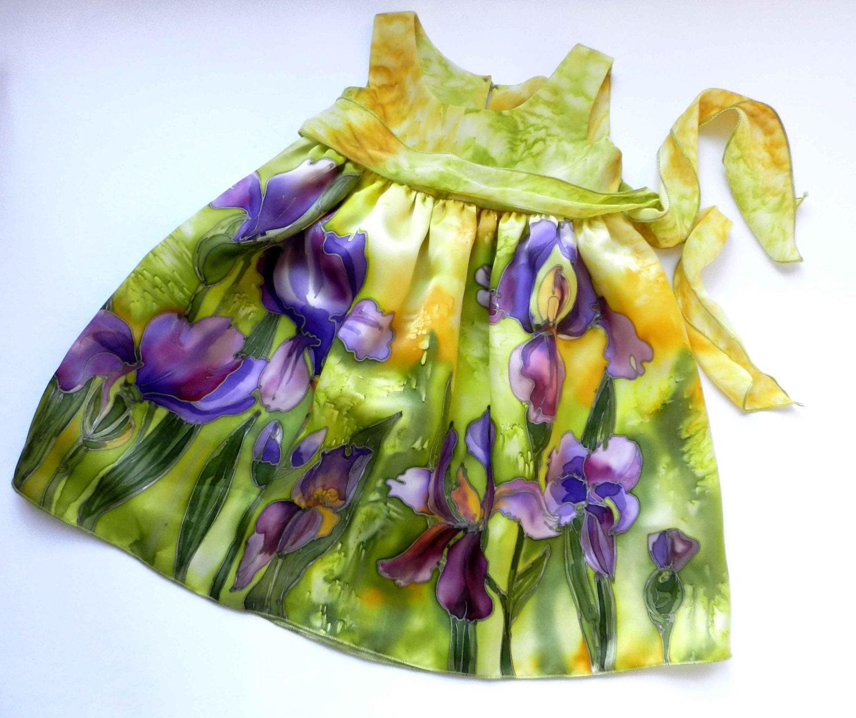 Hand Painted Silk Dresses Flower Silk Dress Hand Painted