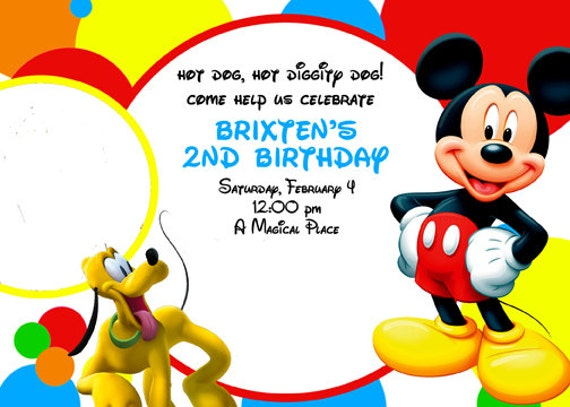 Mickey Mouse Clubhouse Custom Invitations as nice invitation template