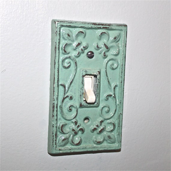Items similar to jade decorative light switch plate for Unique light switch plates
