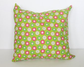 CLEARANCE // ONE - 18x18 Green and Pink Circles Pillow Cover - Premier Prints