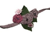 Crochet Flowers with Amethyst Stone Bracelet Handmade - Ready to ship
