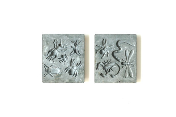 RESERVED-------Neat Old Metal Bug Molds-Creepy Halloween Decor or Craft Supply