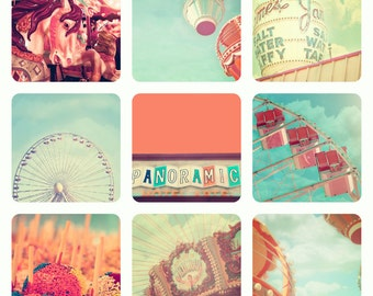 Fine Art Photography, Large Wall Art, Carnival Prints, Nursery Art, Vintage Circus, Ferris Wheel, Carousel, Nursery Wall Art, Soft Pastels