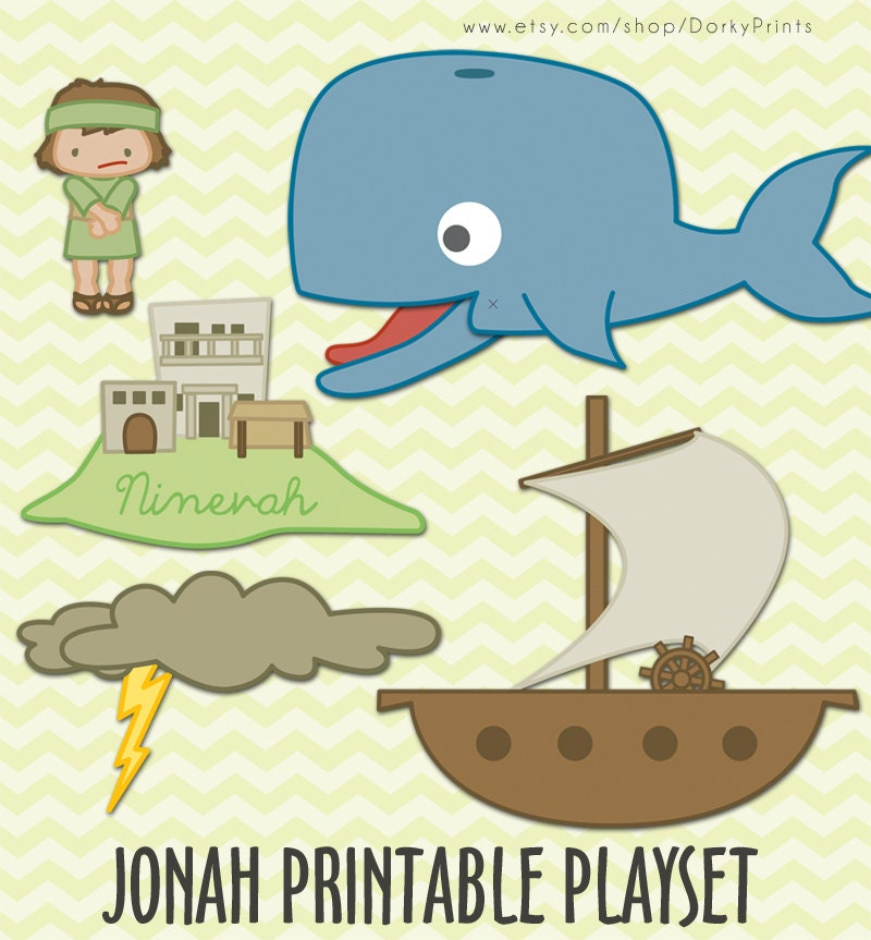 jonah and the whale craft jonah and the whale printable pdf bible by dorkyprints on etsy 6860