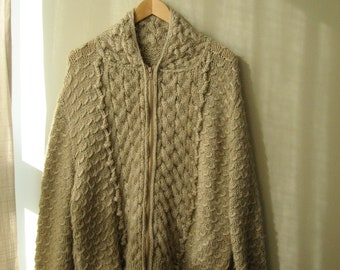50 % OFF Hand Made  Detailed Sweater with Zipper
