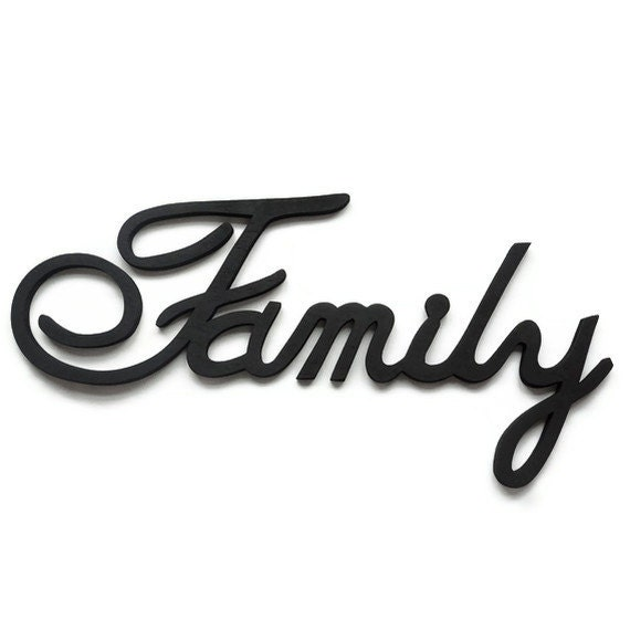 Items Similar To Family Wall Sign Wooden Lettering
