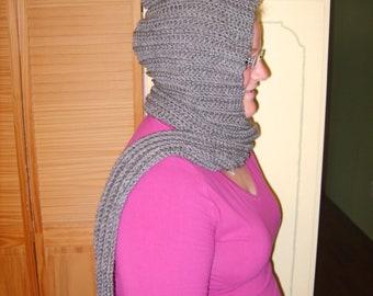 Custom Hooded Scarf - Crochet